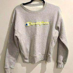 Champion Grey crew neck sweatshirt
